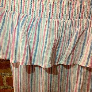 Pink, Blue, White Off The Shoulder Dress - Medium